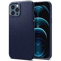 Spigen Funda Liquid Air Compatible con iPhone 12 Pro MAX - Azul Marino