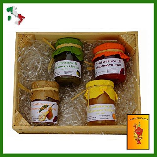 habanero-mix-idea-regalo-4-confetture-red-green-yello-red-e-pera-da-100-ml-una-busta-da-8-gr-di-bird