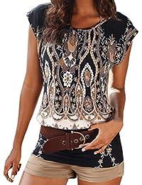 LUCKDE Crop Top Damen, Camisole Kleid Sommerbluse Rockabilly Kleid  Shirtkleid Damen Schnittmuster Blusenkleid Top Frauen 29c21d01c6
