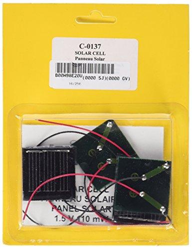 CEBEKIT Pack de 4 paneles solares experimentales, juguete educativo, color negro (Fadisel C-0137)