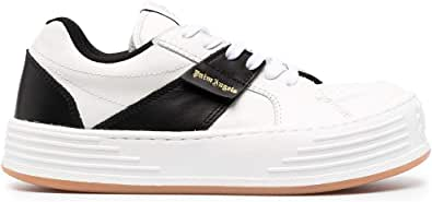 PALM ANGELS Luxury Fashion Uomo PMIA051R21LEA0020110 Bianco Pelle Sneakers | Ss21