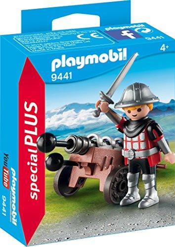 Playmobil- Caballero con Cañón Juguete, Multicolor (geobra Brandstätter 9441)