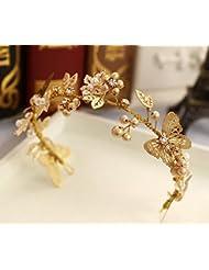 Frauen-Dame Girl Pearl Crystal Haar Clip Claw~Kopfschmuck Haar-Accessoire QY