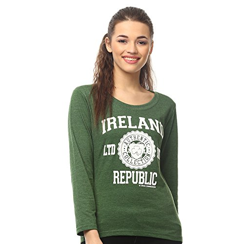 "3da02c726 Irish Connexxion Damen-Langärmel-T-Shirt mit ""Ireland Republic LTD EDT"""