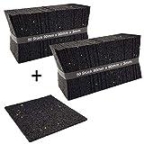 100 Stück 3mm Terrassenpad - 90 x 90 mm Terrassenpads, Gummigranulat-Pads, Terrassenbau