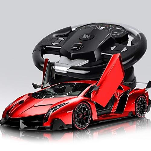 YOOCR High Speed   Elektro RC Auto Lade Toy Boy Funkfernsteuerung Drift Racing Kinderspielzeug Auto kann die Tür öffnen Sportwagen Schwerkraft Induktion 1:18 Legierung RC Fahrzeug (Color : A05) (Rc-elektro-auto-drift)