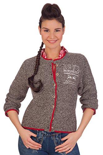 Damen Trachten Strickjacke - ROSI - natur, braun, Größe 46