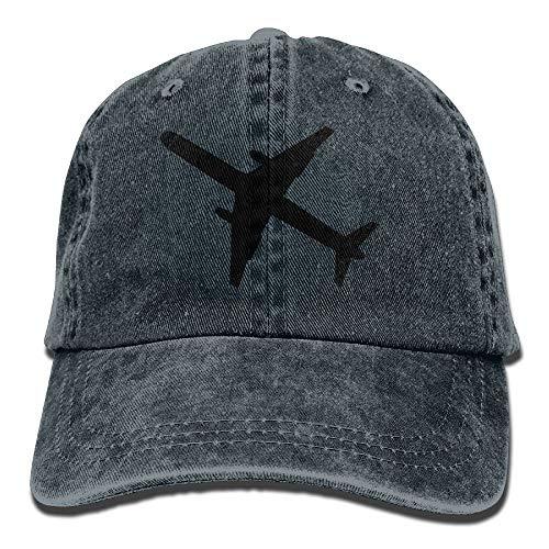 ingshihuainingxiancijies Flugzeug Denim Baseball Caps Hut Einstellbare Cotton Sport-Bügel-Kappe für Männer Frauen
