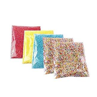Cosanter 5 Pack Moco Espuma Pelotas Set Artesanía Espuma Poliestireno Bolas Decorativa Bolas 2.5 – 3.5 mm (65000 – 70000 pieza)