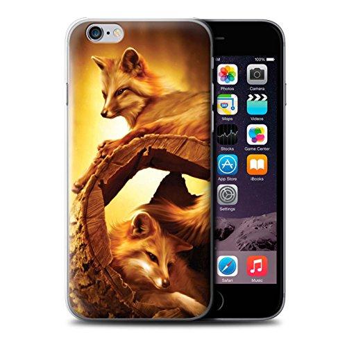 Officiel Elena Dudina Coque / Etui pour Apple iPhone 6 / Cleopatra/Serpent Doré Design / Les Animaux Collection Jacinthe