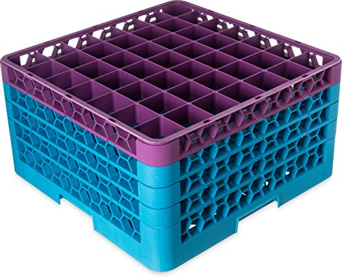 Utopia Warewashing, CARG49-4C1489-B01001, 49 Compartment Glass Rack + 4 Extenders - Top Extender Lavender (Box of 1)