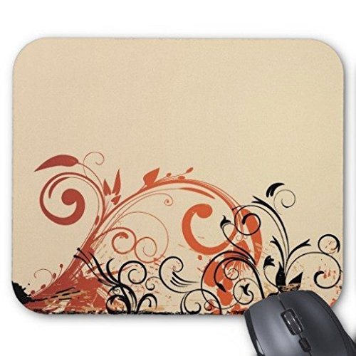 Gaming Maus Pad Vintage Herbst wirbelt Rechteck Office Mousepad 22,9 x 17,8 cm