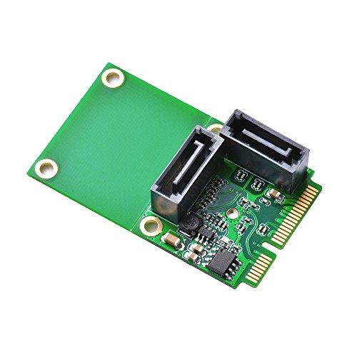 XCSOURCE Mini PCI-E PCI Express zu 2-Port SATA 3.0 III 6Gb/s Erweiterung karte Single Chip Converter Adapter AC696