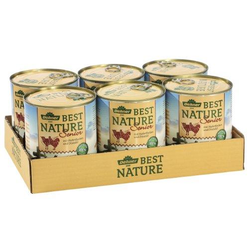Dehner Best Nature Hundefutter, Senior Lamm und Geflügel, 6-er Pack (6 x 800 g) - 3