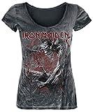 Iron Maiden Fear of The Dark Vintage T-Shirt schwarz/Used Look S
