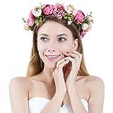PROKTH Blumenkranz Handwerk Haare Blumen Haarschmuck Blumenstirnband für Blumenmädchen Mädchen
