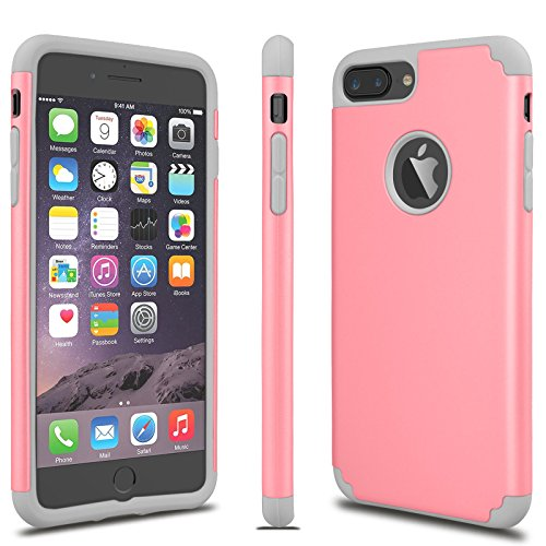Luxus stoßfest Rugged Rubber Hard Case Cover für Apple iPhone 766S Plus 55S SE, iPhone 7, Pink Gray Vintage Hard Rubber
