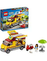 LEGO 60150 City Great Vehicles Pizza Van and Scooter Building Set, Fun Build and Play Toys for Kids