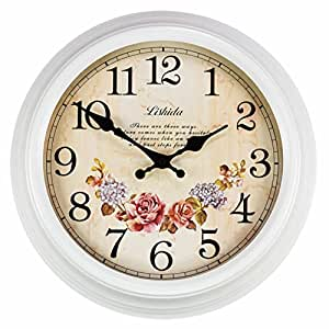 Metal Wall Clock American Style Retro Living Room Silent Wall Clocks Creative Iron Art Clock