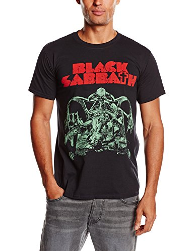Black Sabbath Bloody Sabbath Cutout Camiseta Manga Corta, Negro,...