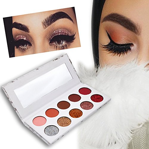 Lidschatten Palette Yiitay 10 Farben Glitter Matte Lidschatten Make Up Marble Eyeshadow - Augen Make-up Für Schritt Schritt Halloween