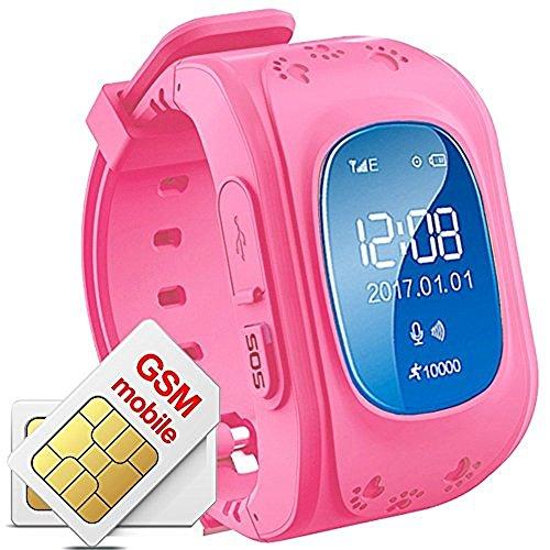 Hangang Reloj para Niños GPS Rastreador niños Reloj de Pulsera teléfono SIM...