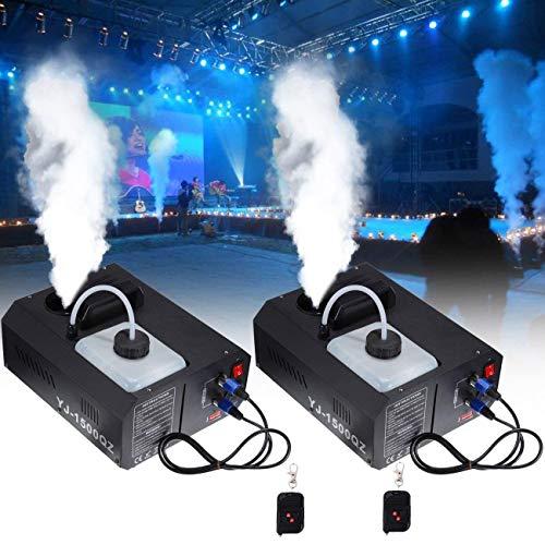 Ridgeyard 2 X 1500W DMX Macchina del fumo verticale 2L Macchina per Nebbia con telecomando per Palco matrimonio discoteca DJ bar party spray fino a 5m