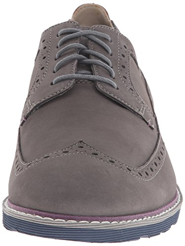 Clarks Gambeson Kleid Oxford Grey Nubuck