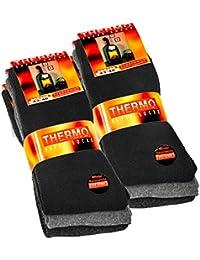 Lot de 6 paires de chaussettes homme Thermo - tissu éponge - noir/gris anthracite/gris