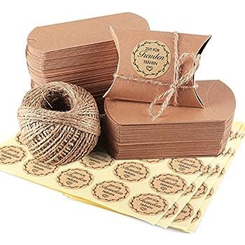 bindex 50 st ck vintage stil geschenkboxen aus kraftpapier mit juteschnur hochzeit. Black Bedroom Furniture Sets. Home Design Ideas