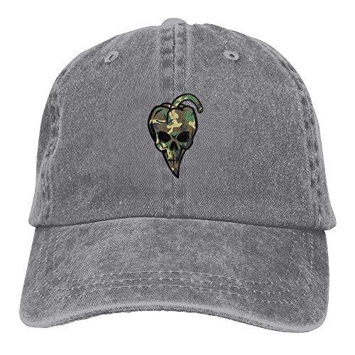 Preisvergleich Produktbild Presock Chili Pepper Shaped Camouflage Skull Denim Hat Womens Baseball Caps
