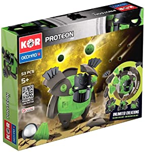 Geomag- KOR Proteon Juego de construcción, Multicolor, 53 Piezas (5517523)