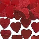 Rote Konfetti Herzen (groß) - Hochzeitsdekoration - Streudeko - Tischdeko - Dekoartikel - romantische Dekoration