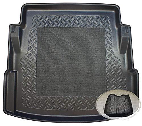 ZentimeX Z3023396 Antirutsch Kofferraumwanne fahrzeugspezifisch + Klett-Organizer (Laderaumwanne, Kofferraummatte)