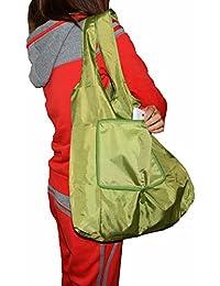 Deep Green : Lifelj Reusable Grocery Shopping Bag Tote Bag Folding Travel Recycle Bag Ripstop Nylon Tote Bag Foldable...