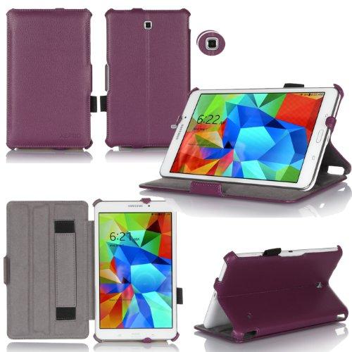 Schutzhülle Samsung Galaxy Tab S 8.44g/LTE violett Ultra Slim Leder Style mit Multis Stand-Schutzhülle Luxe Schutzhülle Samsung Galaxy Tab S 8,4Zoll Veilchen-Zubehör Tasche XEPTIO: Exceptional Case. - 3g Luxe Case