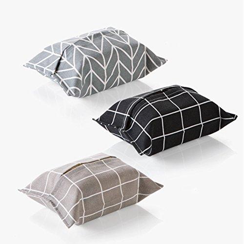 wolle und Leinen, gefüllt mit Taschentüchern und Servietten, Stoff, Gray Plaid, S ()