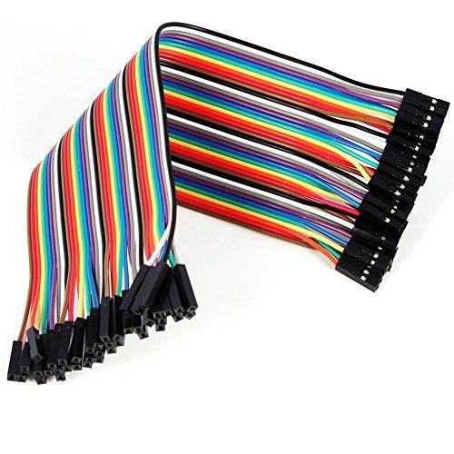Demarkt Female-Female Jumper Wire Kabel Steckbrücken Drahtbrücken 40 Pin F/F für Arduino Raspberry pi (weiblichen zu weiblichen) (Female-Female) -
