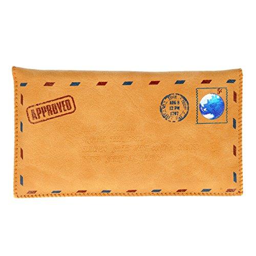 Universal-Tasche (Kunstleder) Briefumschlag Style für Samsung, Apple, HTC, Google, BlackBerry - 14,5 cm x 8,3 cm - Braun
