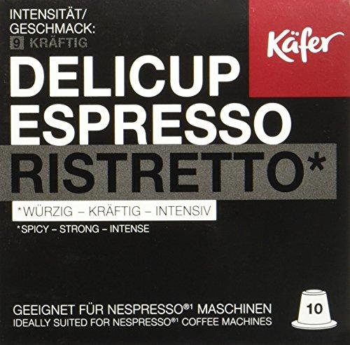 Käfer Espresso Ristretto - Nespresso Kaffekapseln, 100 Kapseln (10 x 52 g)