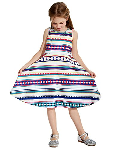 Lese - Böhmen - Kleider für Mädchen 50er Jahre Retro - Schwingen - Mädchen - Kleider für den Sommer Outing 120 (Kinder 50er Jahre Outfits)