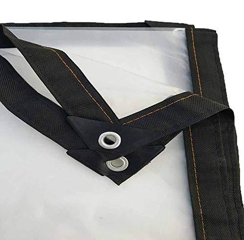 SZ JIAOJIAO Bâche pour bâche Transparente pour étanche Grenier de Ferme, bâche extérieure résistante Froide et UV avec Perforation,4mX1m