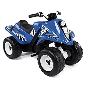 Smoby - 33051 - Quad Electrique Rallye - 2 Roues Motrices - 2  Heures de Batterie 6 V - Bleu