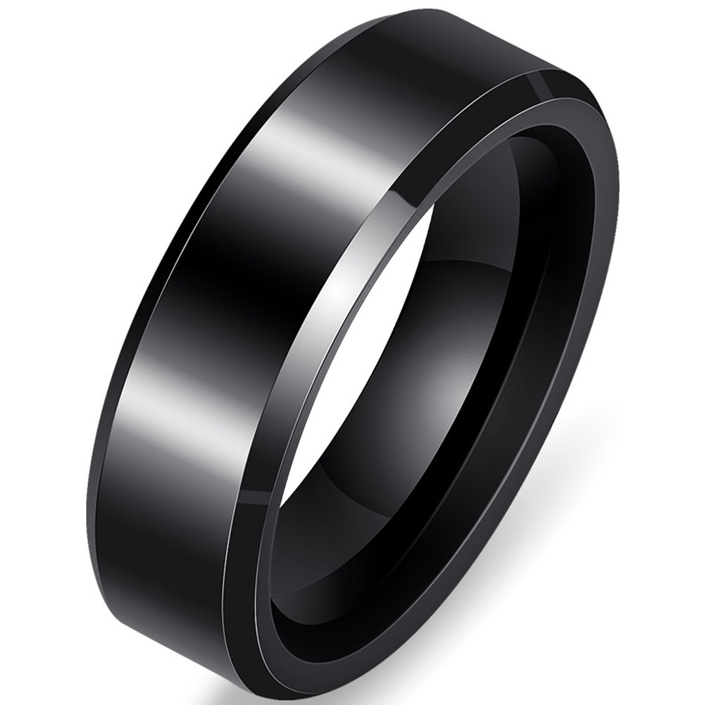 Jude Jewelers Brushed 6mm Ceramic Classical Simple Plain Wedding Band Ring