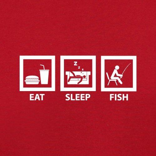 Eat Sleep Fish - Herren T-Shirt - 13 Farben Rot