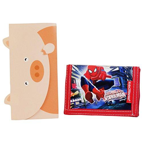Marvel Ultimate Spider-Man Geldtasche Geldbörsen Geldbeutel Portemonnaie