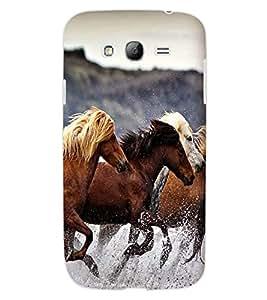 ColourCraft Amazing Horses Design Back Case Cover for SAMSUNG GALAXY GRAND Z I9082Z