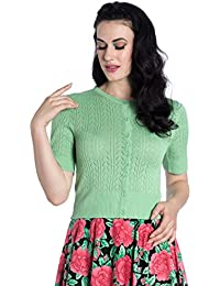 Hell Bunny Knitted Loretta Vintage Cardigan Retro 1950's Rockabilly Knit Top