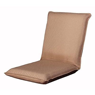 XXFFH® Klappsofa Eine Person, gewebte Waffelmuster Bodenstuhl Spielstuhl Yogastuhl, 6 Winkelverstellung