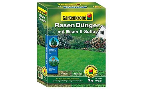 Gartenkrone Rasendünger mit Eisen II- Sulfat 3,0 kg